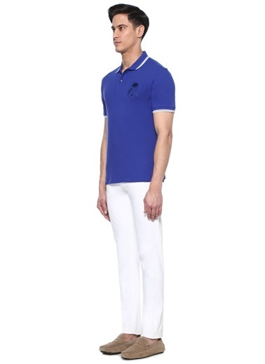 Corneliani Id Tişört Mavi